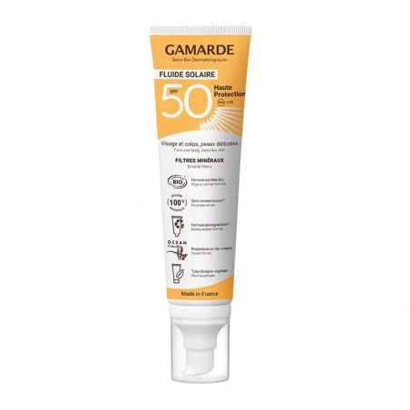 Gamarde Fluide Solaire SPF 50 - OhSens.fr